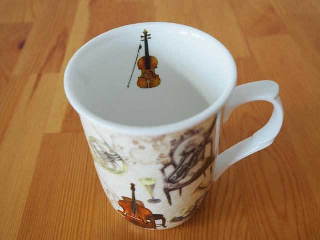 Musical instrument mug/ミュージカルインストゥルメントマグ/楽器柄マグカップ/ギフトBOX入り/300ml