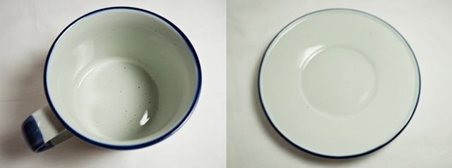 Manses Design OVANAKER Coffee cup with saucer Blue line/モンセスデザイン オーバノーケル コーヒーカップ with ソーサー /ブルーライン
