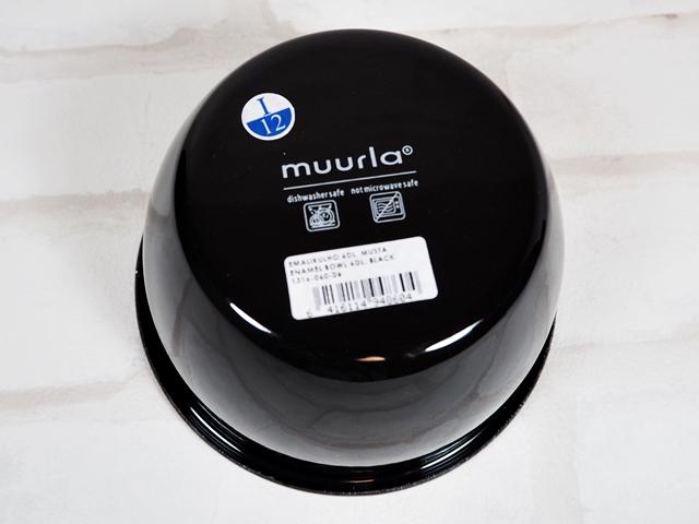 muurla basic series/ムールラ ベーシックシリーズ/琺瑯/ホーロー/製 エナメルボウル M ブラック 600ml/北欧雑貨