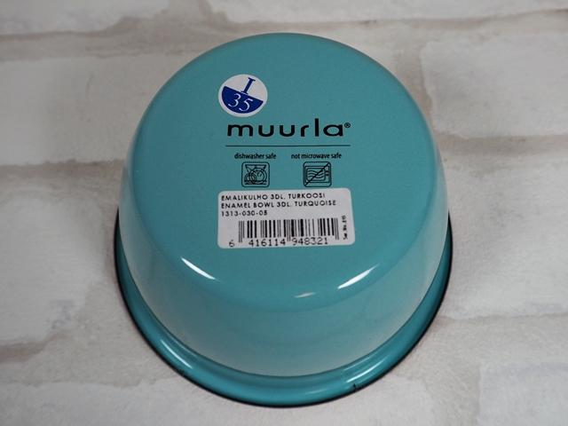 ムールラ ベーシックシリーズ/琺瑯/ホーロー/製 エナメルボウル S ターコイズ 300ml/北欧雑貨