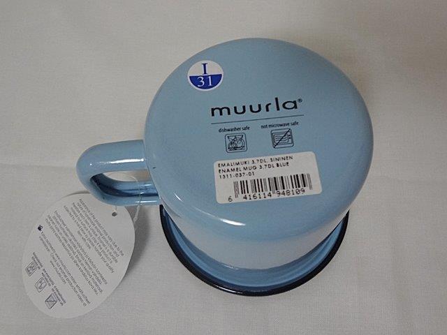 muurla basic series/ムールラ ベーシックシリーズ/琺瑯(ホーロー)製 エナメルマグ L ブルー 370ml/北欧雑貨