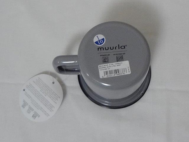 muurla basic series/ムールラ ベーシックシリーズ/琺瑯(ホーロー)製 エナメルマグ L グレー 370ml/北欧雑貨