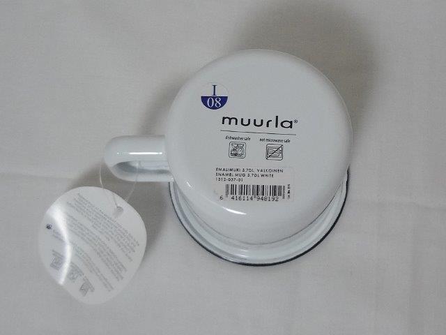muurla basic series/ムールラ ベーシックシリーズ/琺瑯(ホーロー)製 エナメルマグ L ホワイト 370ml/北欧雑貨