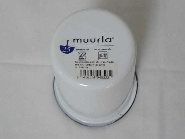 muurla basic series/ムールラ ベーシックシリーズ/琺瑯(ホーロー)製 エナメルタンブラー L ホワイト 600ml/北欧雑貨