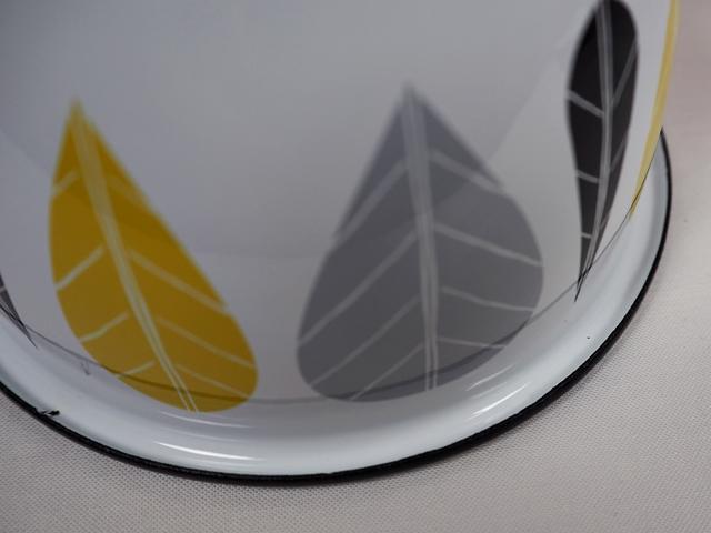 muurla leaves series/ムールラ リーブズシリーズ/琺瑯/ホーロー/製 エナメルボウル M イエローリーブズ 600ml/北欧雑貨