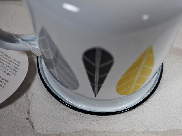 muurla leaves series/ムールラ リーブズシリーズ/琺瑯/ホーロー/製 エナメルマグ L イエローリーブズ 370ml/北欧雑貨